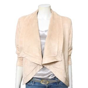 Halston | Faux Suede Long Sleeve Open Front Jacket